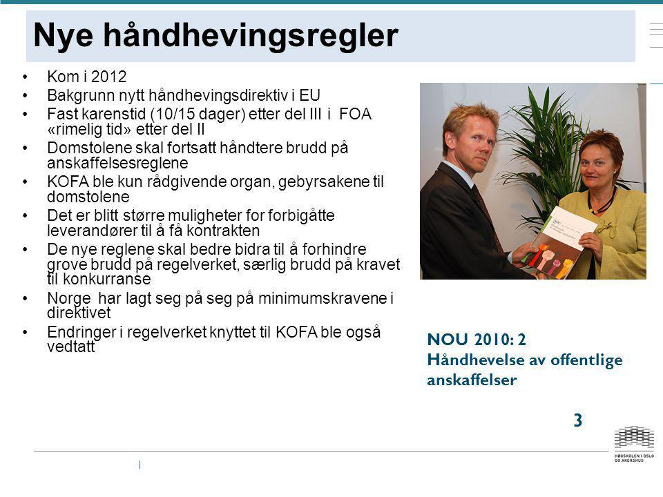 Nye håndhevingsregler