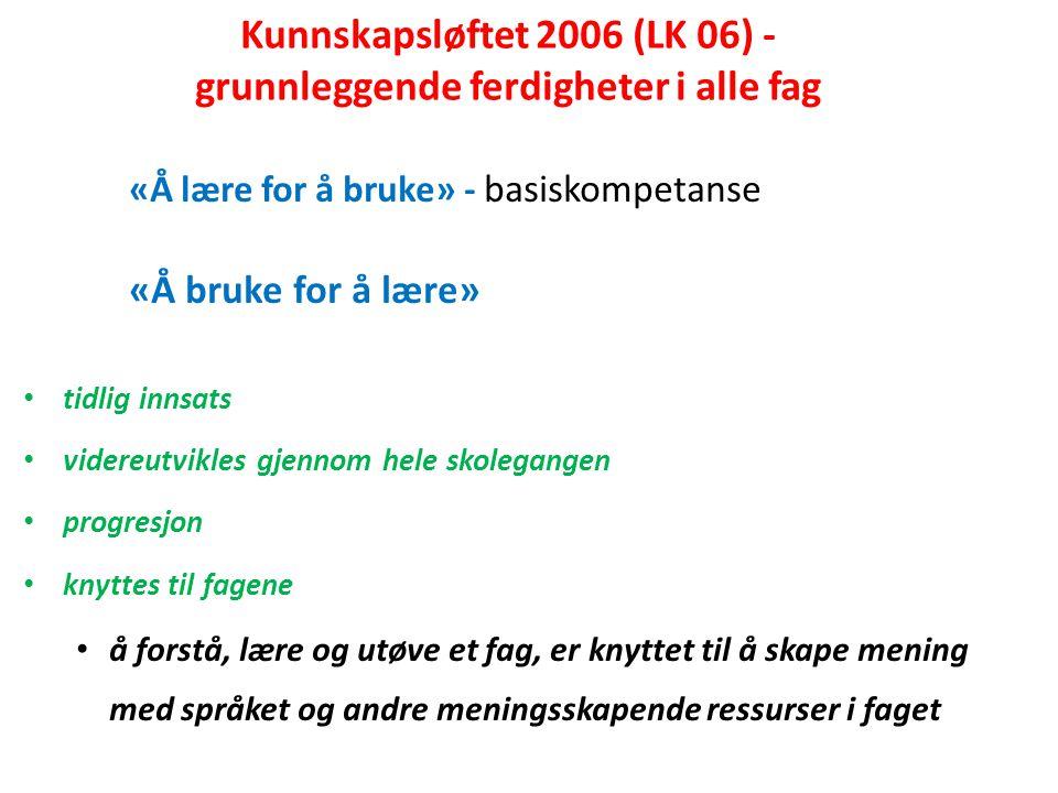 Kunnskapsløftet 2006 (LK 06) - grunnleggende ferdigheter i alle fag