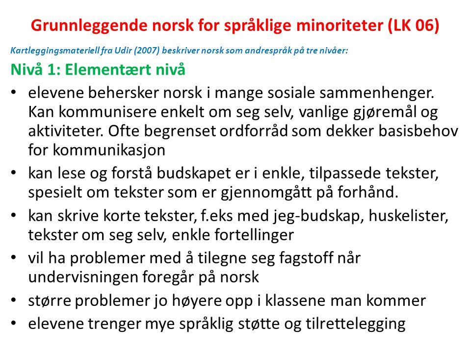 Grunnleggende norsk for språklige minoriteter (LK 06)