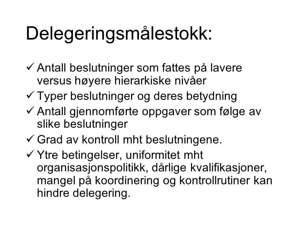 Delegeringsmålestokk: