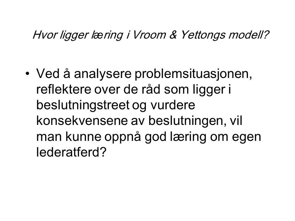 Hvor ligger læring i Vroom & Yettongs modell