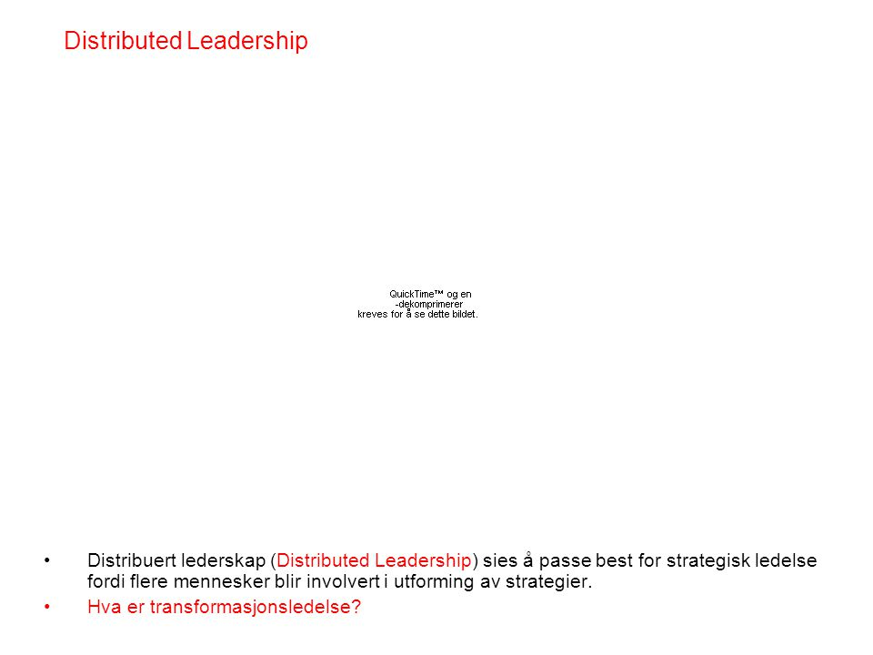 Distributed Leadership