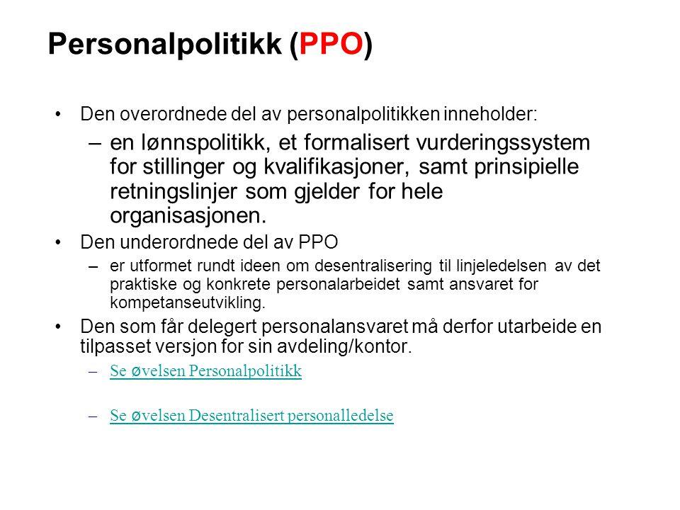 Personalpolitikk (PPO)
