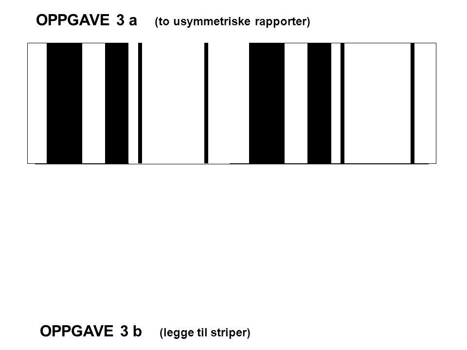 OPPGAVE 3 a (to usymmetriske rapporter)