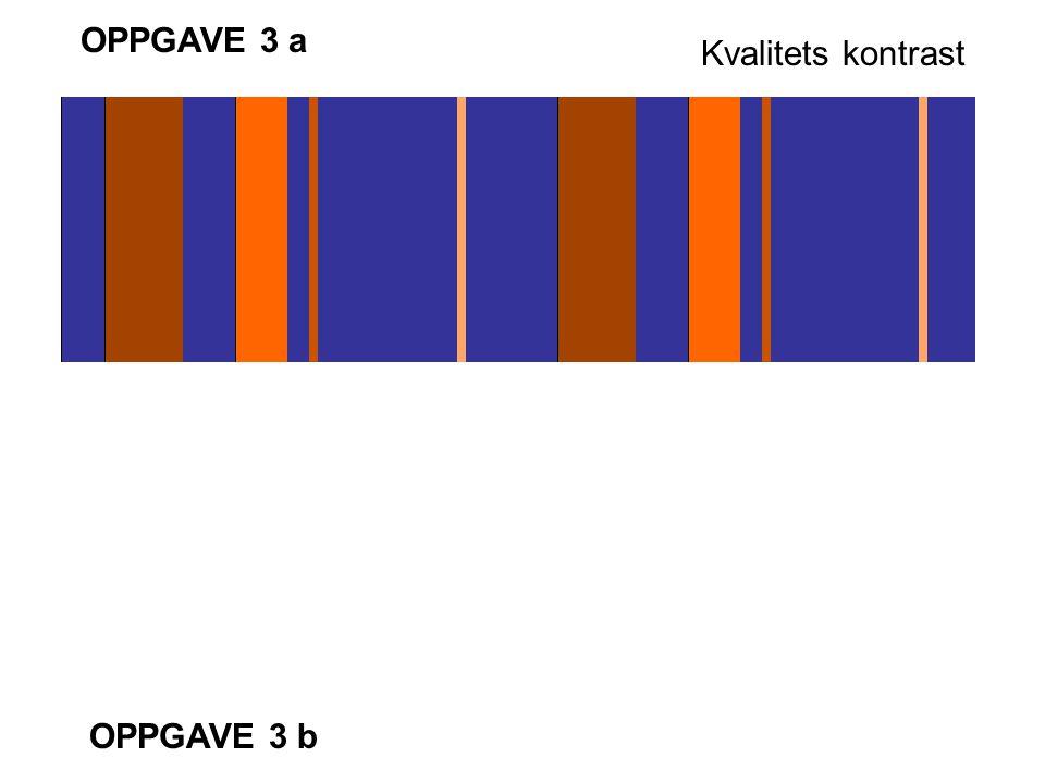 OPPGAVE 3 a Kvalitets kontrast OPPGAVE 3 b
