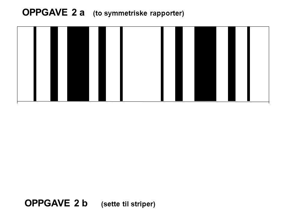 OPPGAVE 2 a (to symmetriske rapporter)