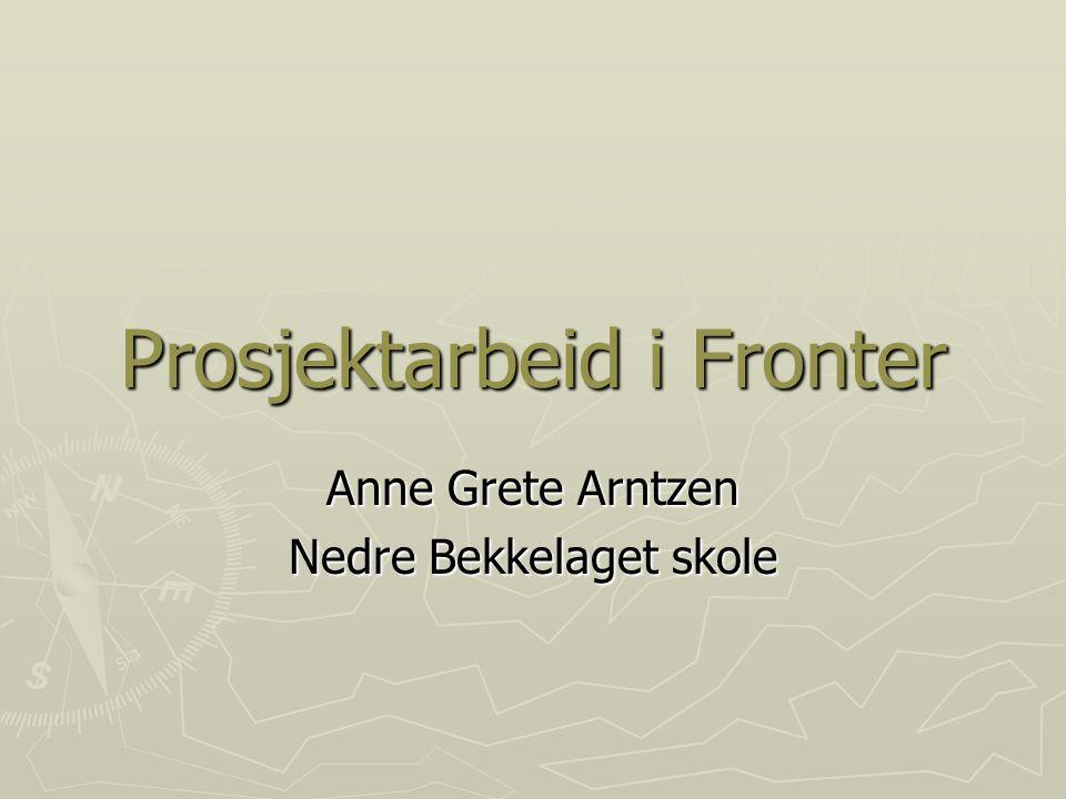 Prosjektarbeid i Fronter