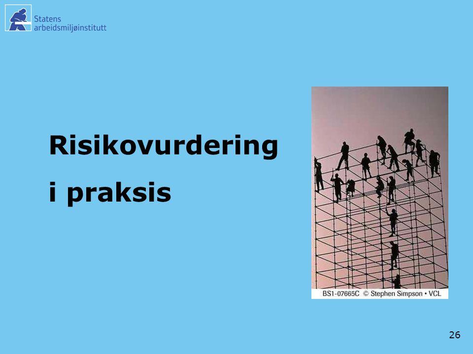 Risikovurdering i praksis