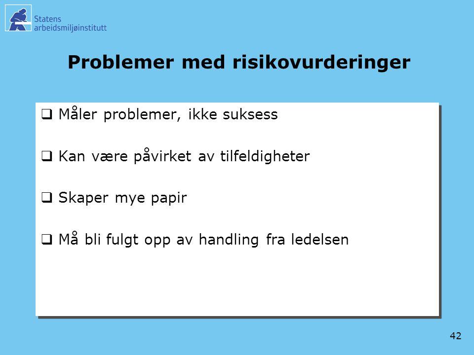 Problemer med risikovurderinger