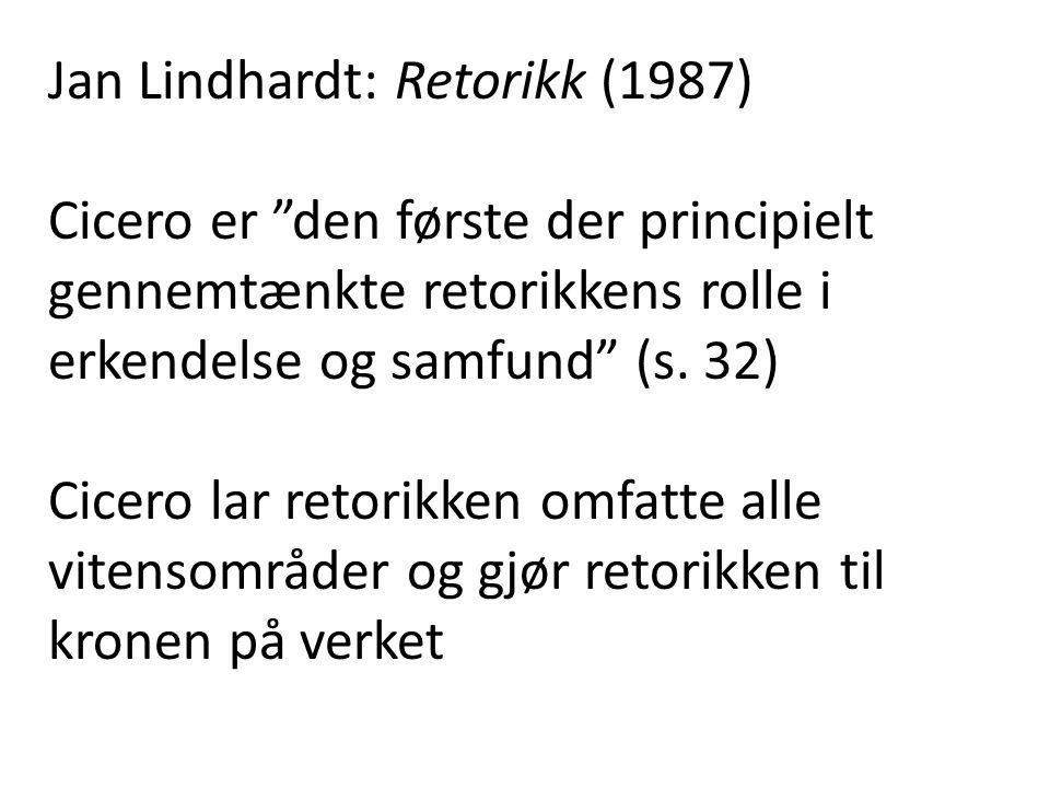 Jan Lindhardt: Retorikk (1987)