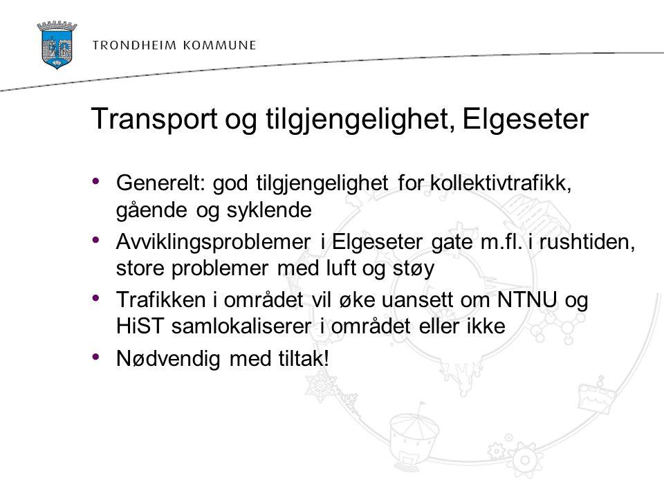 Transport og tilgjengelighet, Elgeseter