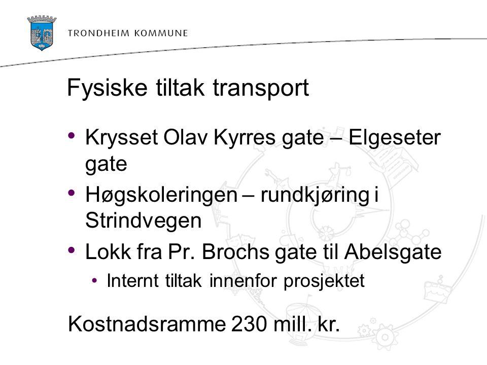 Fysiske tiltak transport