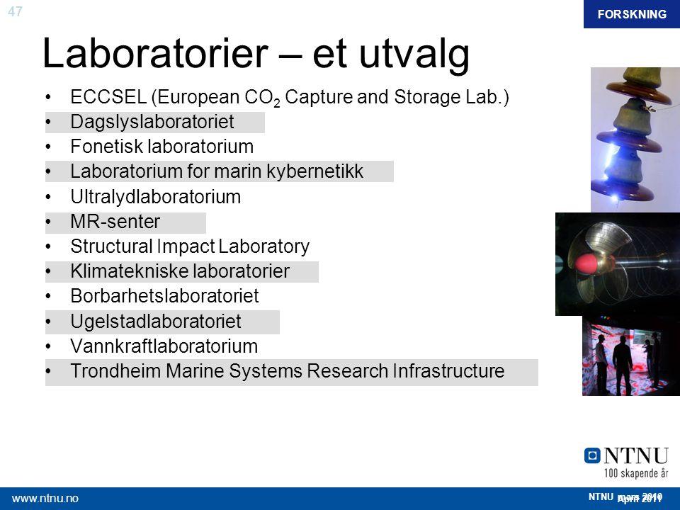 Laboratorier – et utvalg