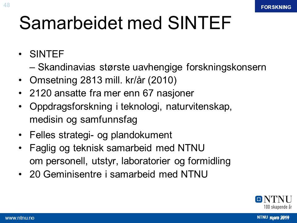 Samarbeidet med SINTEF