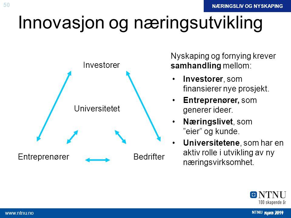 Innovasjon og næringsutvikling