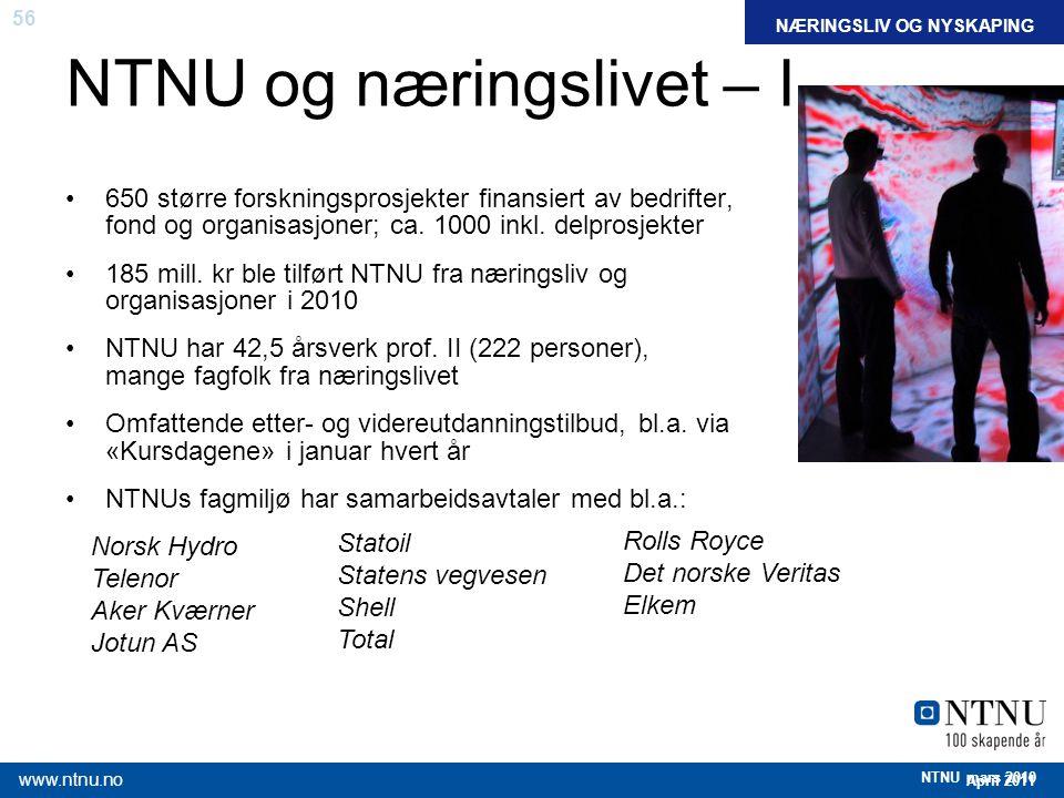 NTNU og næringslivet – I
