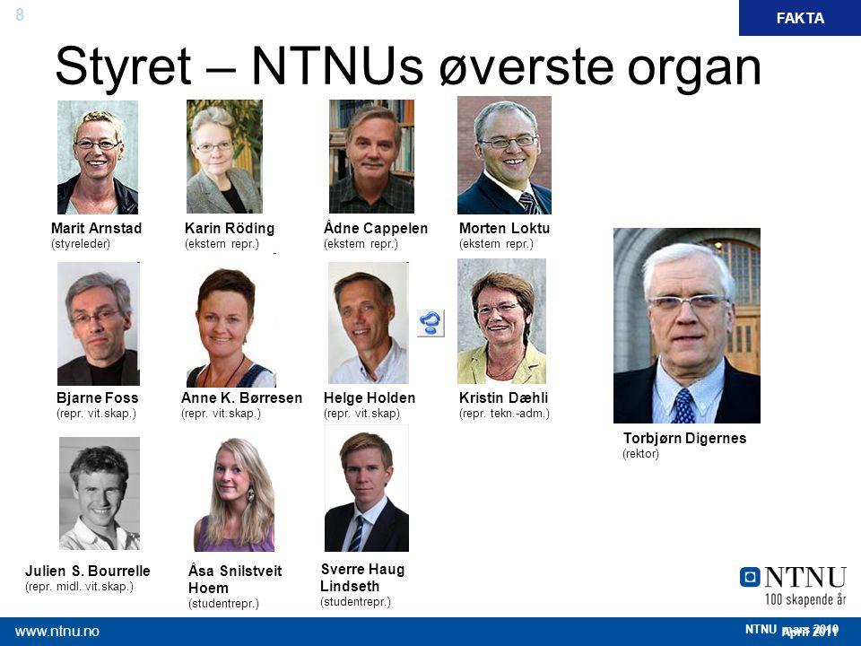 Styret – NTNUs øverste organ