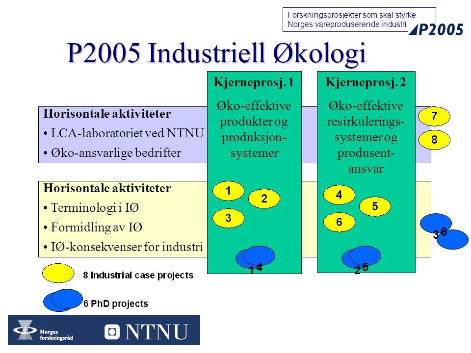 P2005 Industriell Økologi Kjerneprosj. 1