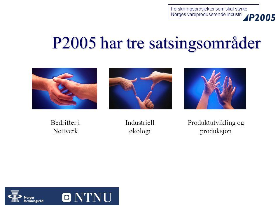 P2005 har tre satsingsområder