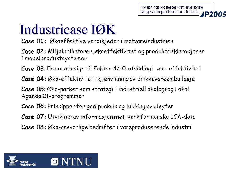 Industricase IØK Case 01: Økoeffektive verdikjeder i matvareindustrien
