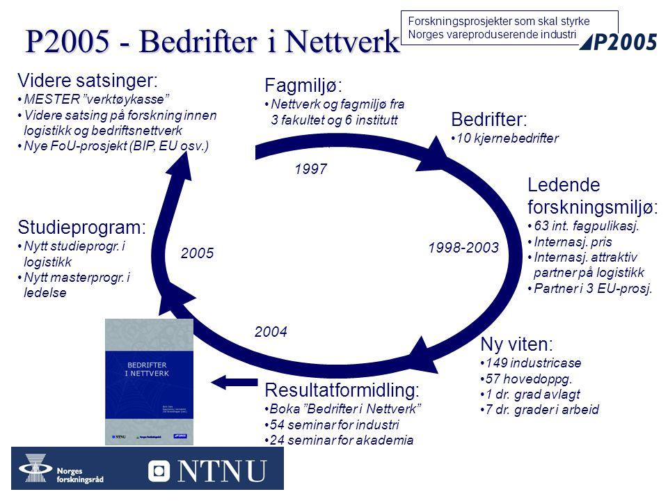 P2005 - Bedrifter i Nettverk