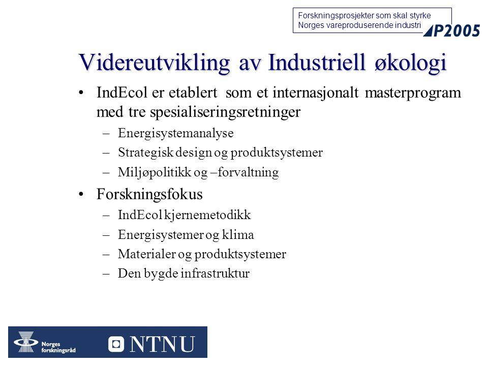 Videreutvikling av Industriell økologi