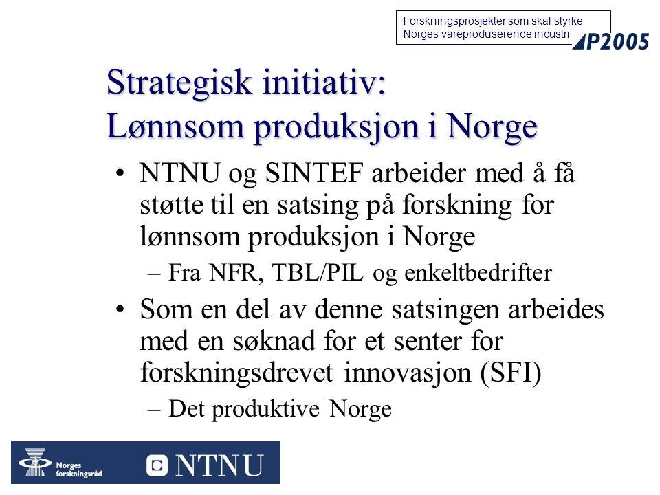 Strategisk initiativ: Lønnsom produksjon i Norge