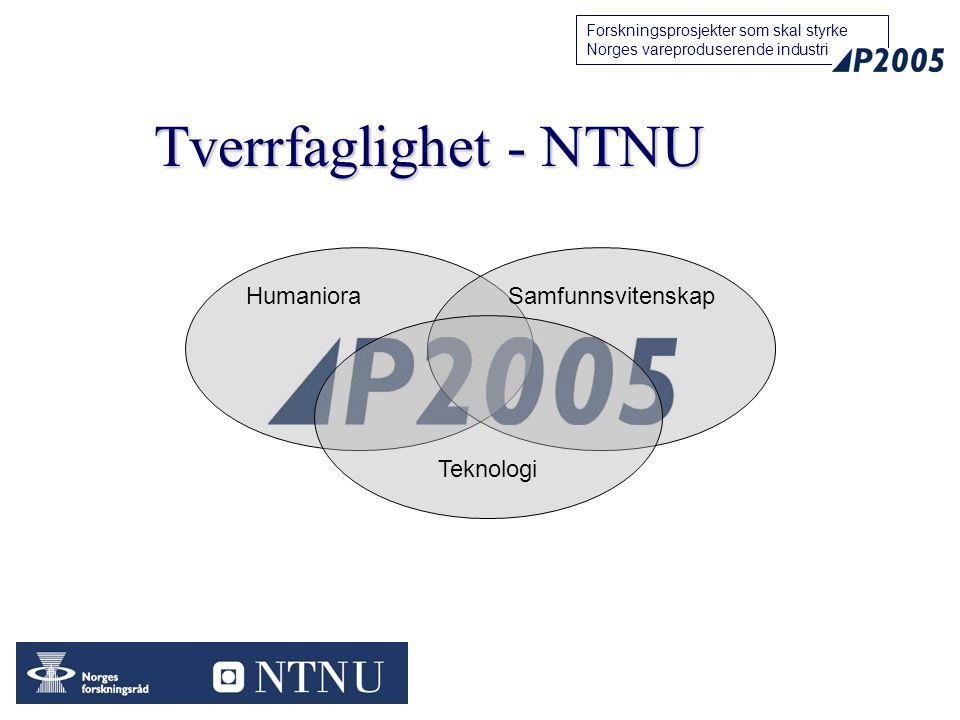Tverrfaglighet - NTNU Humaniora Samfunnsvitenskap Teknologi