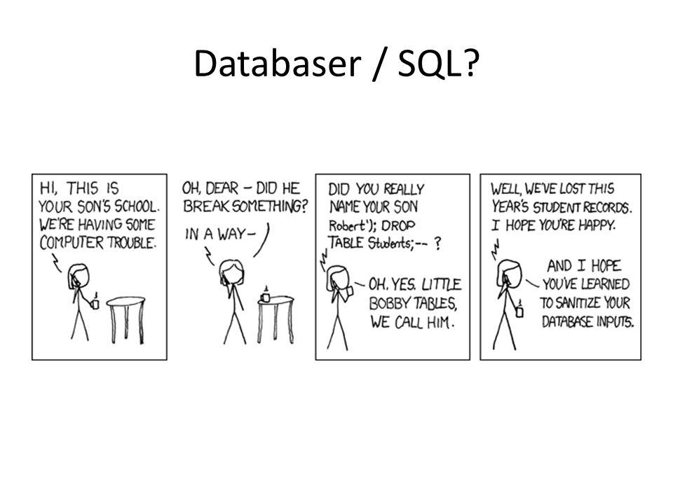 Databaser / SQL
