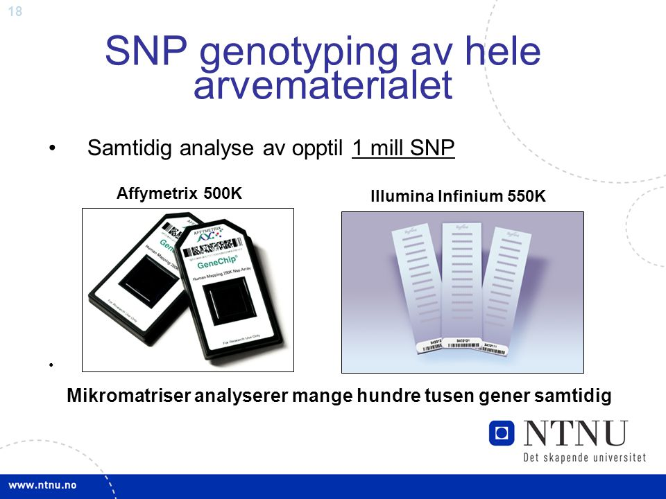 SNP genotyping av hele arvematerialet