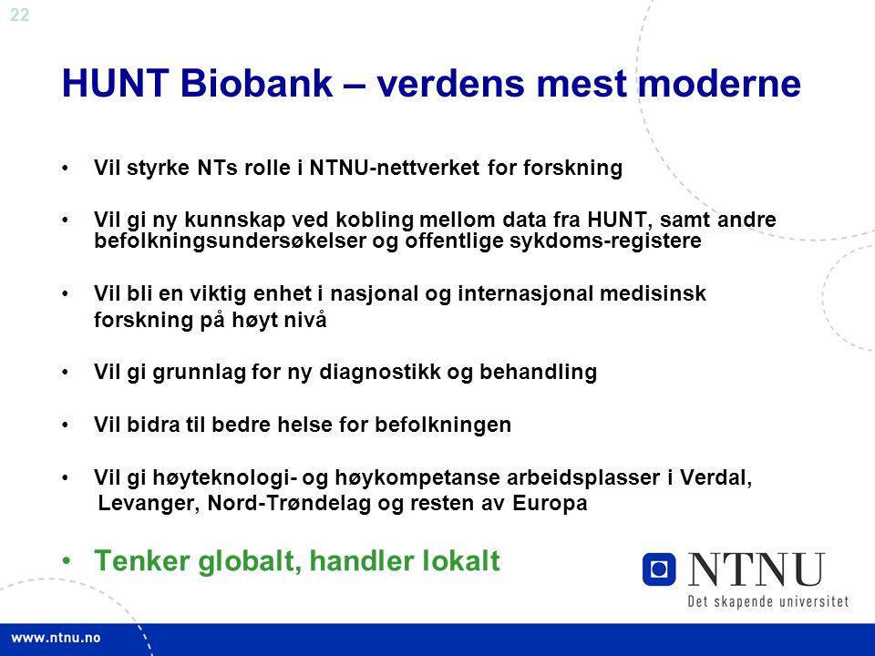 HUNT Biobank – verdens mest moderne