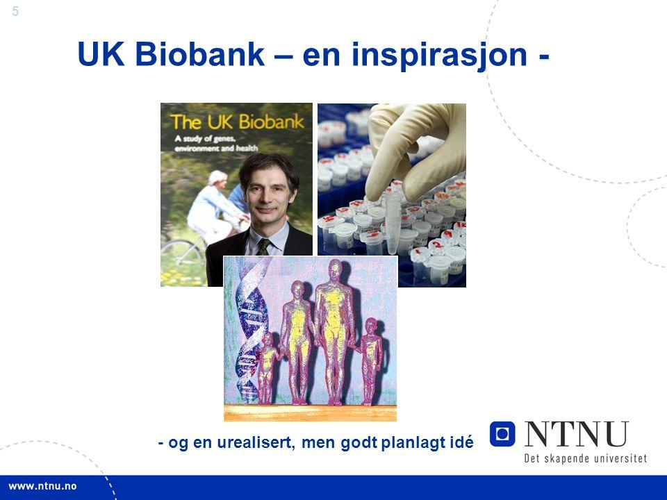 UK Biobank – en inspirasjon -