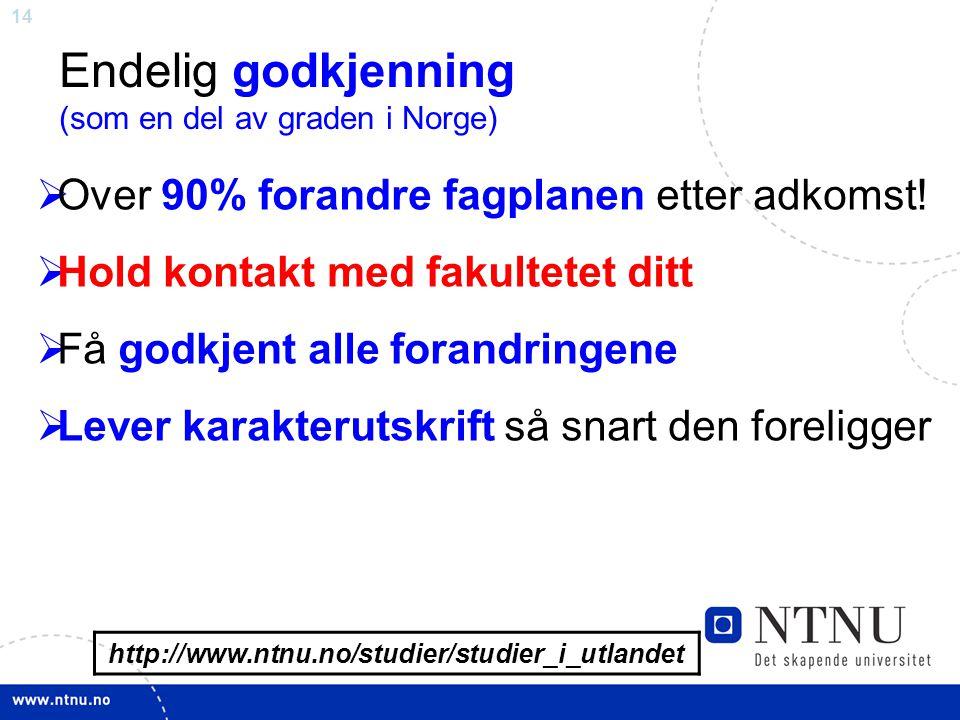 Endelig godkjenning (som en del av graden i Norge)