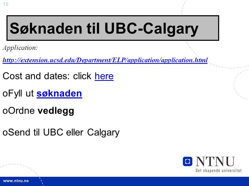 Søknaden til UBC-Calgary