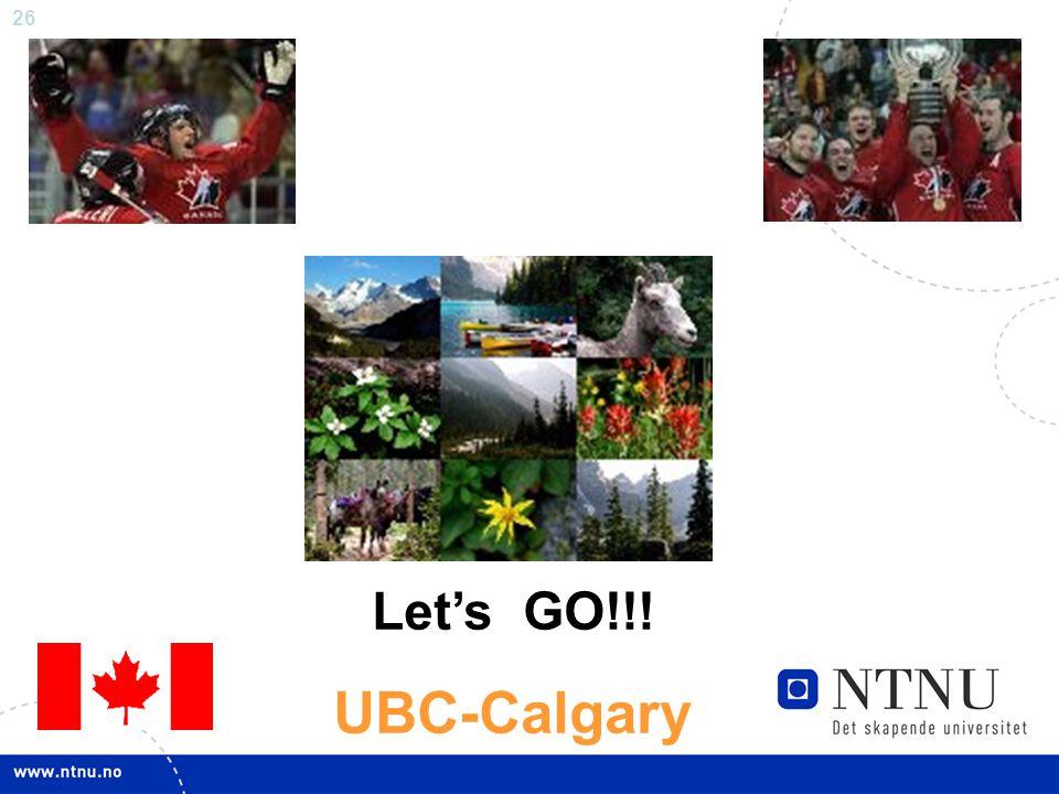 Let's GO!!! UBC-Calgary