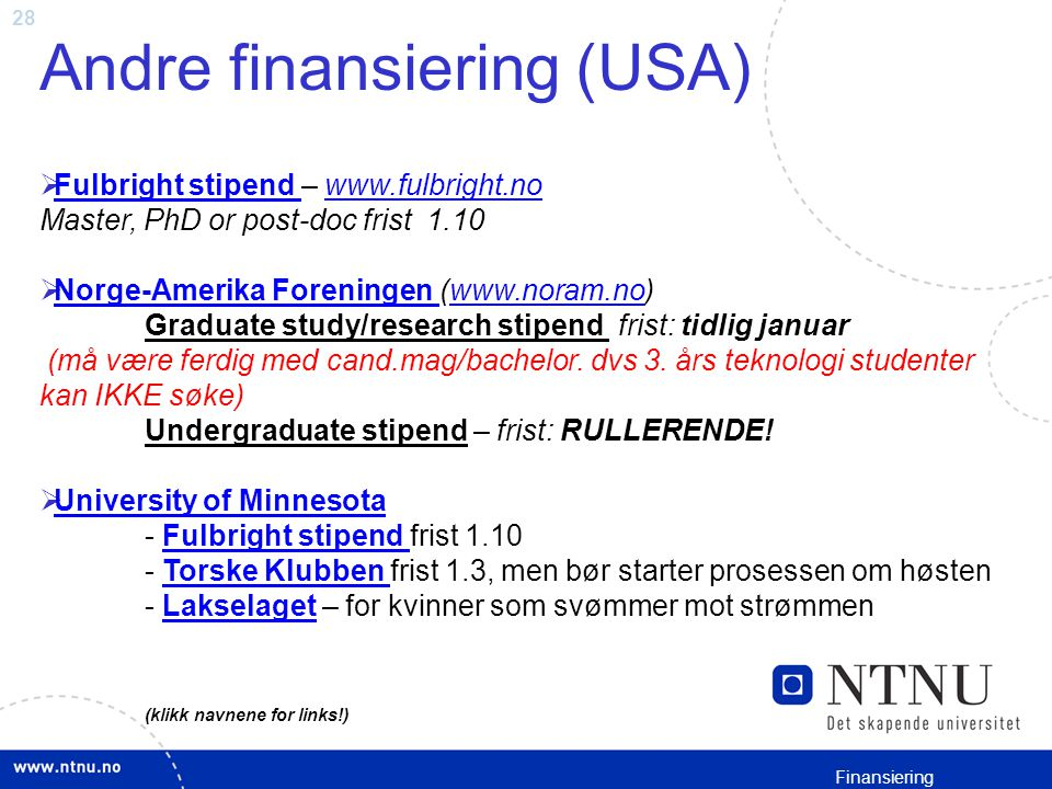 Andre finansiering (USA)