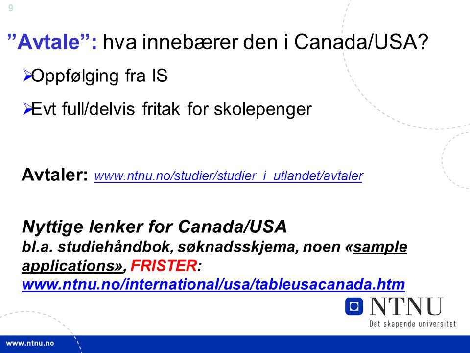 Avtale : hva innebærer den i Canada/USA
