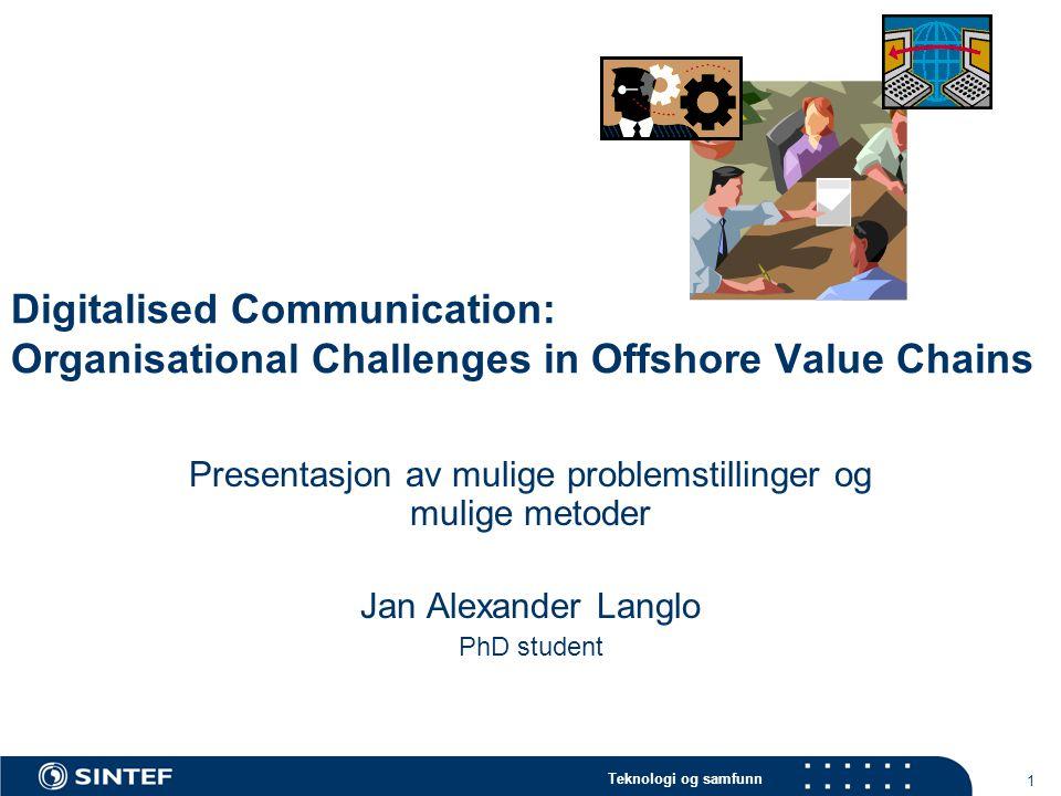 Presentasjon av mulige problemstillinger og mulige metoder