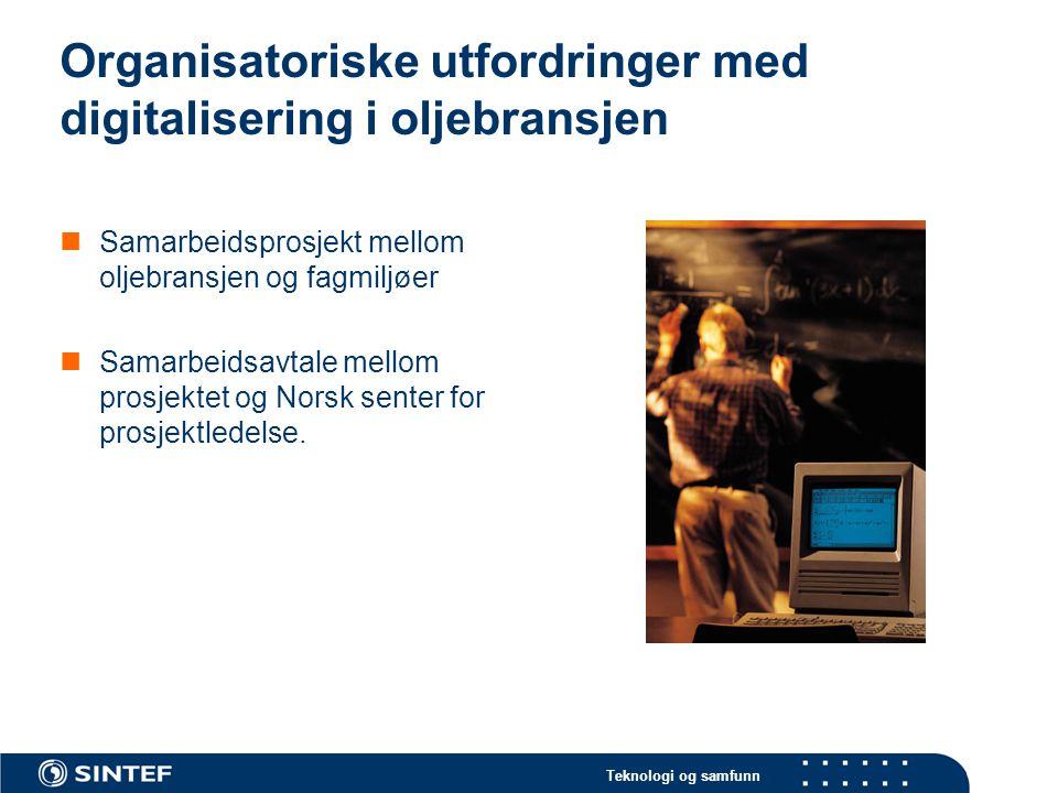 Organisatoriske utfordringer med digitalisering i oljebransjen