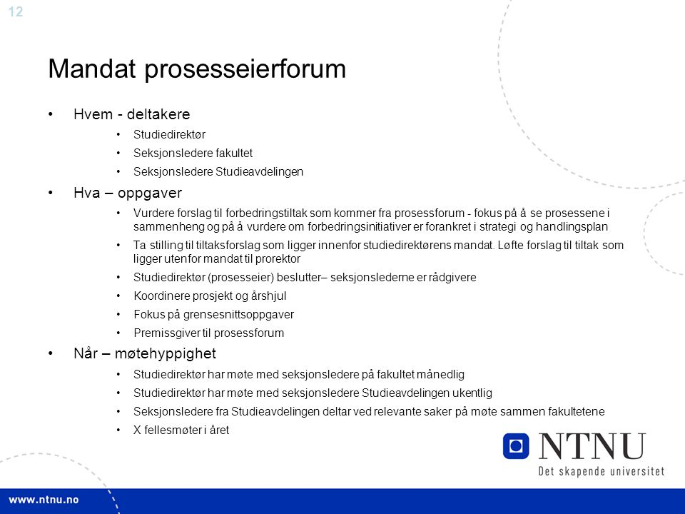 Mandat prosesseierforum