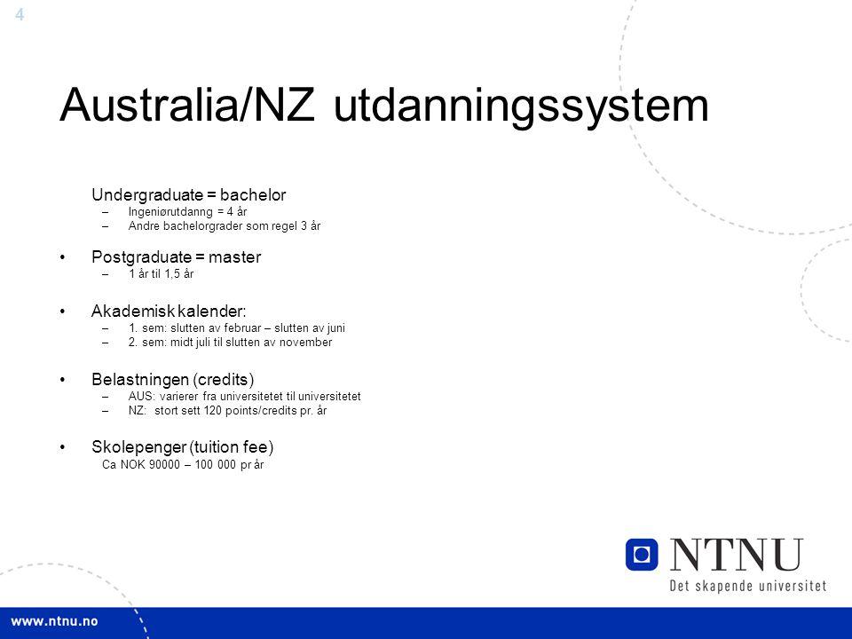Australia/NZ utdanningssystem