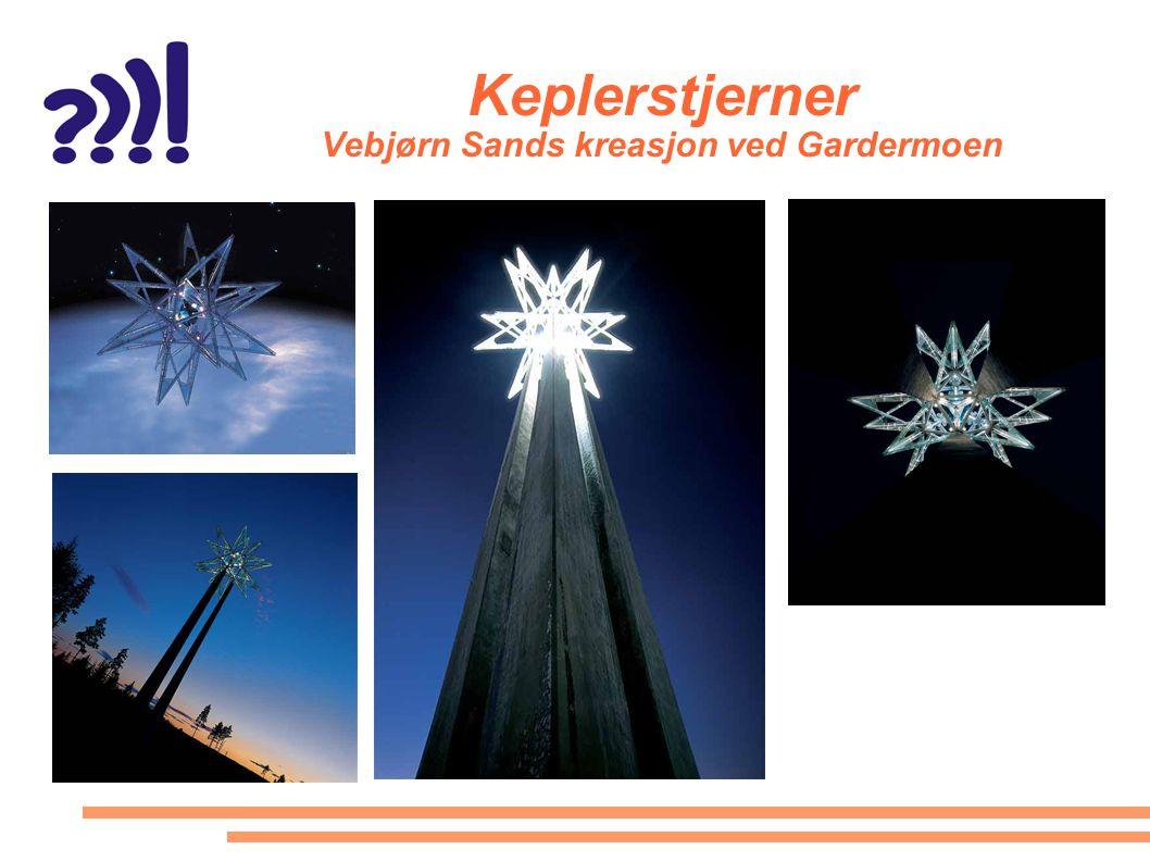Keplerstjerner Vebjørn Sands kreasjon ved Gardermoen