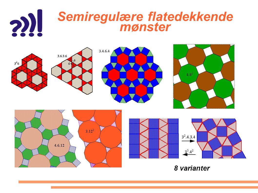 Semiregulære flatedekkende mønster