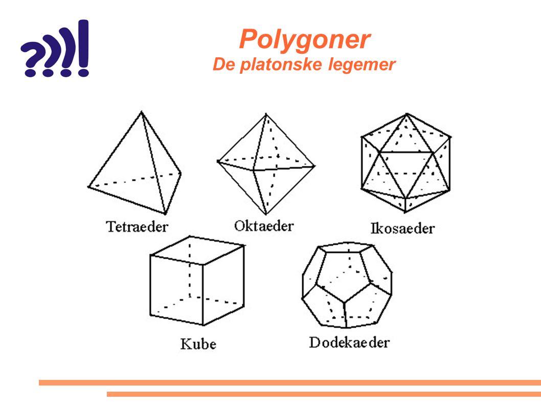 Polygoner De platonske legemer