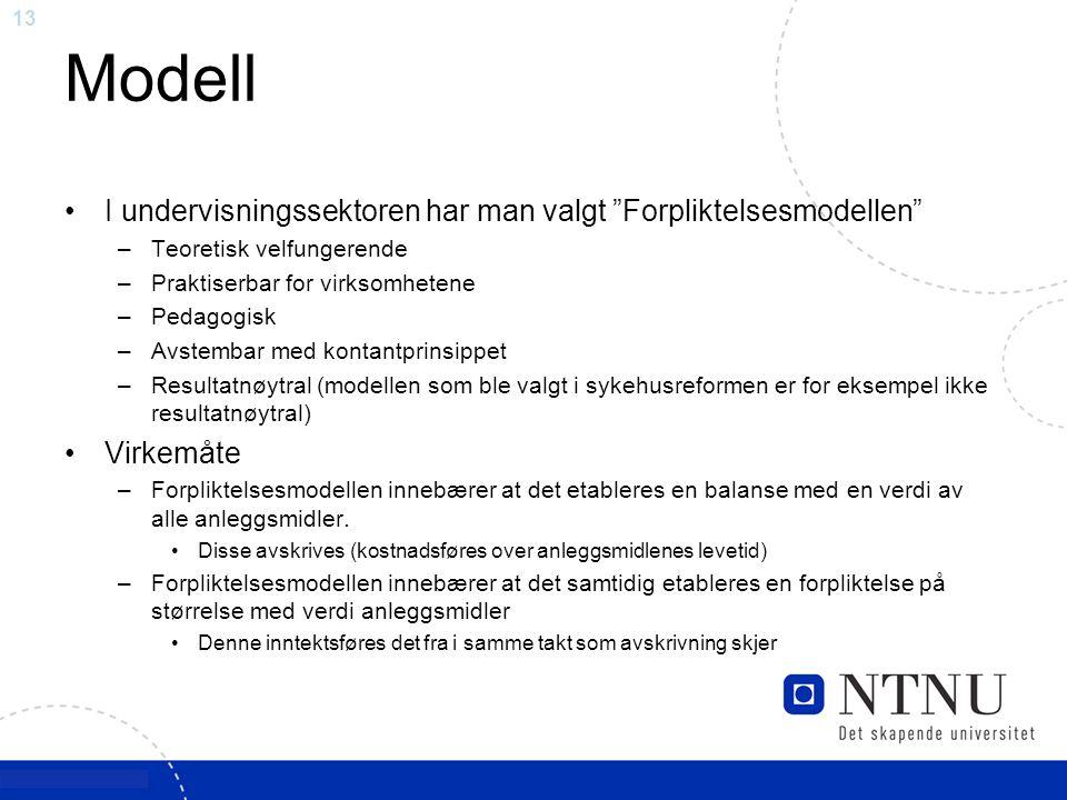 Modell I undervisningssektoren har man valgt Forpliktelsesmodellen