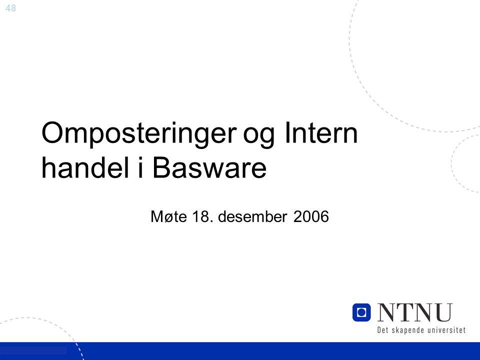 Omposteringer og Intern handel i Basware