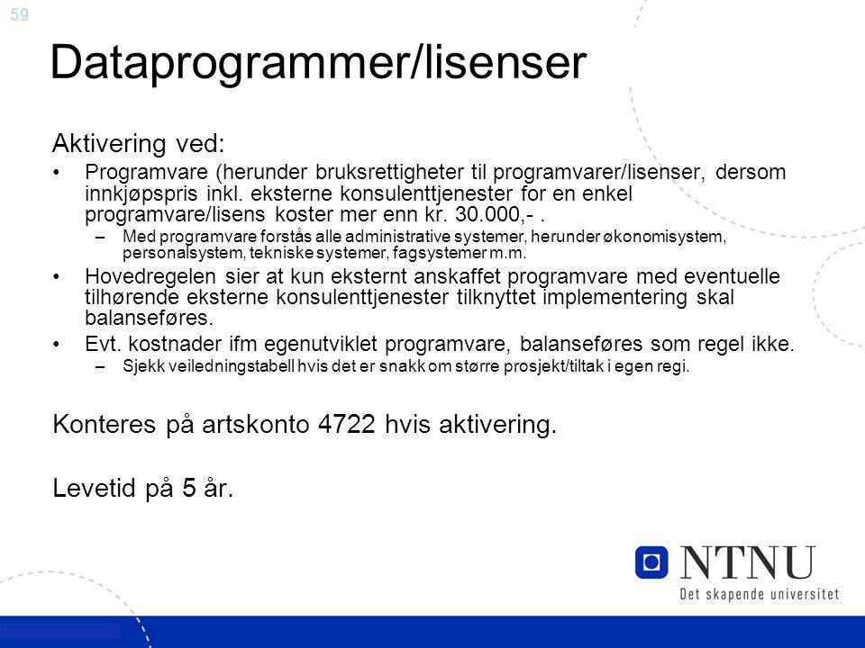 Dataprogrammer/lisenser