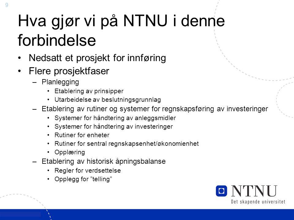 Hva gjør vi på NTNU i denne forbindelse