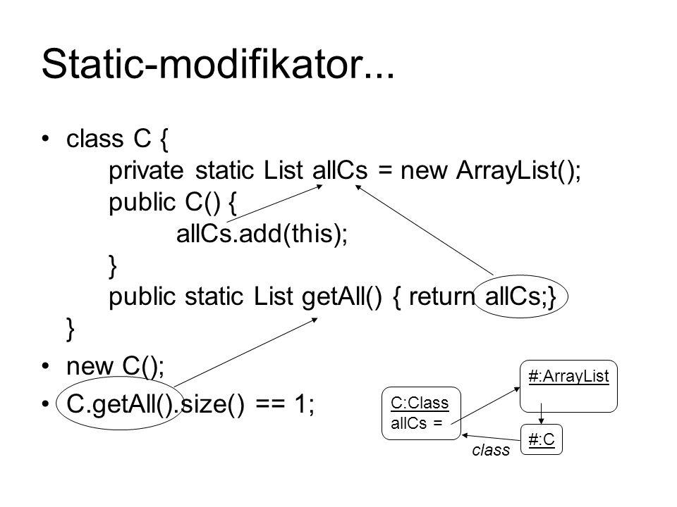 Static-modifikator...