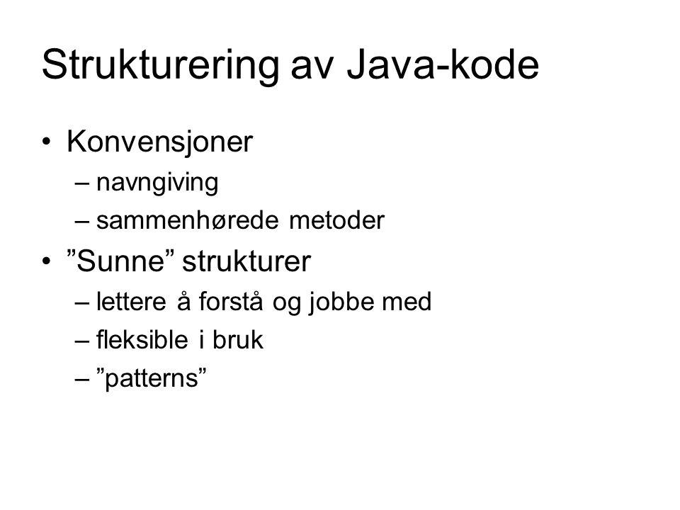 Strukturering av Java-kode